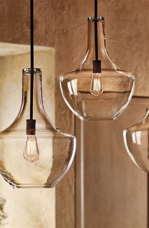 glass kitchen pendant lights top 15 of paxton glass 3 light pendants 3797