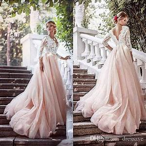 discount vintage 2017 country blush pink wedding dresses v With vintage pink wedding dress