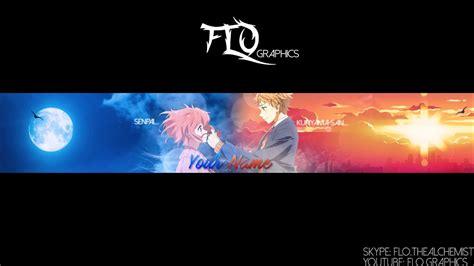 Anime Channel Banner Template Kyoukai No Kanata Anime Banner Template 36