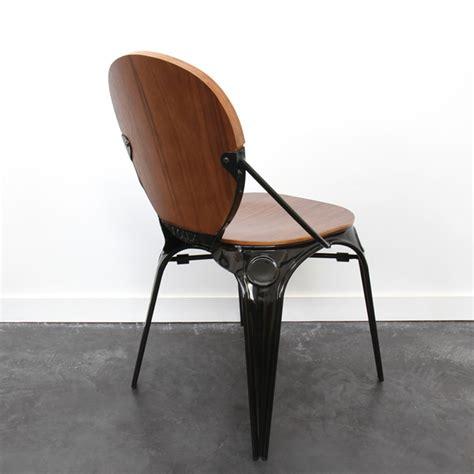 chaise bistro chaise style industriel en bois et métal by drawer
