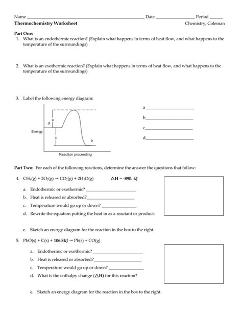 worksheet thermochemistry worksheet grass fedjp