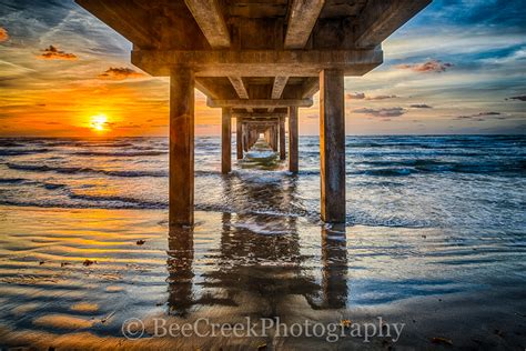 sunrise   pier bee creek photography landscape