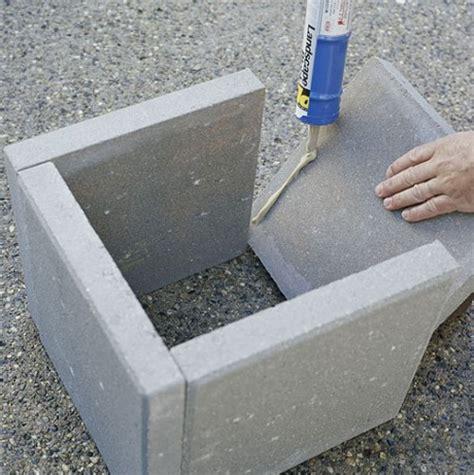 planter concrete simple diy concrete outdoor planters from pavers shelterness
