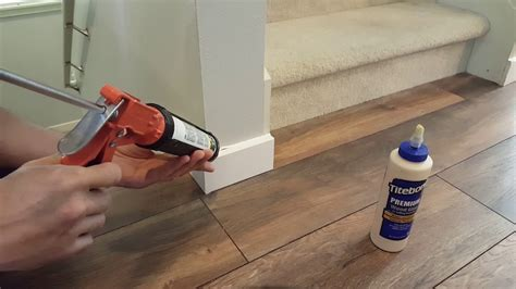 how to install baseboard without nails youtube