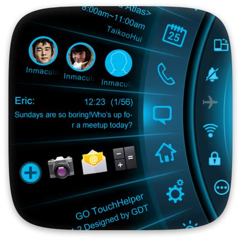 free android themes free android application blue light toucher theme