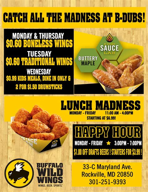 buffalo wild wings deals friday