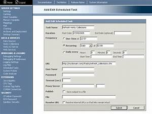 coldfusion scheduled tasks With coldfusion templates