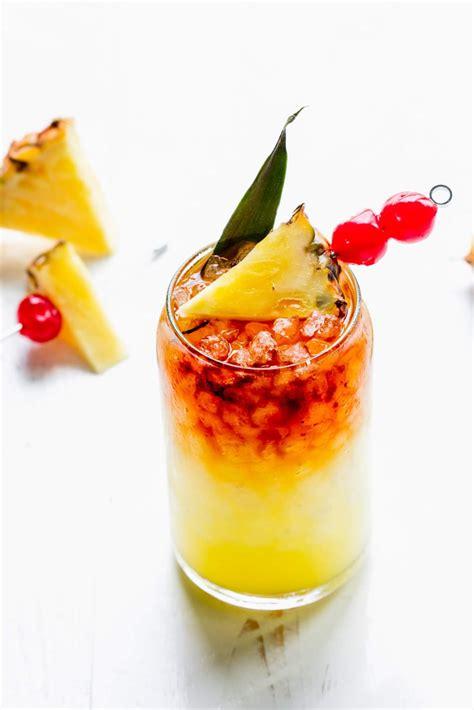 mai tai recipe hawaiian classic cocktail platings