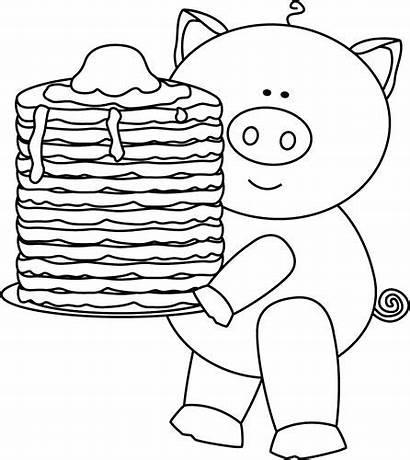 Pig Pancakes Pancake Clip Clipart Party Coloring
