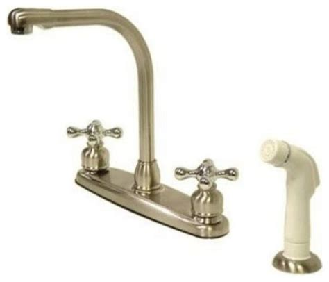 high arch kitchen faucet high arch kitchen faucet with white sprayer traditional