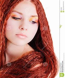 Pretty Girl With Red Hair Stock Image Image Of White