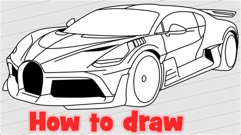 Artstation bugatti chiron anna par. How to draw Bugatti Divo hypercar - YouTube