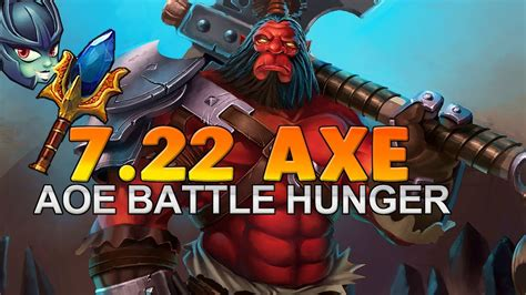 dota 2 7 22 gameplay german lets play axe youtube