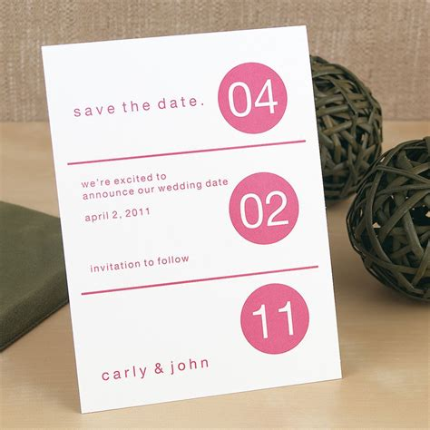 Dot Design Save the Date Card Invitations By Dawn