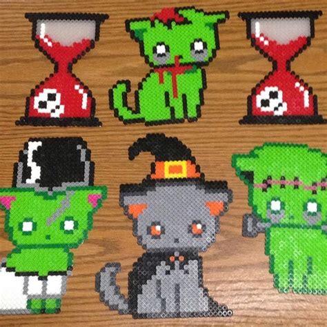 Halloween Perler Bead Projects by 25 Best Ideas About Hama Beads Halloween On Pinterest