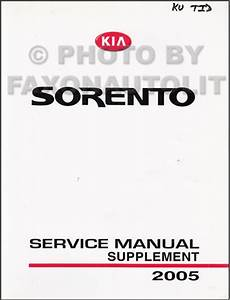 2005 Kia Sorento Electrical Troubleshooting Manual Original