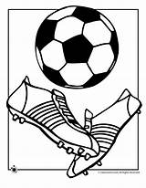 Soccer Coloring Ball Pages Cup sketch template