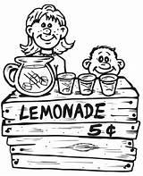 Coloring Lemonade Printable Colorear Puesto Limonada Stand Dibujo Dibujos Lemon Kolorowanki 5th Grade Cytryna Lemoniada Selling Infantiles Dzieci Dla Vender sketch template