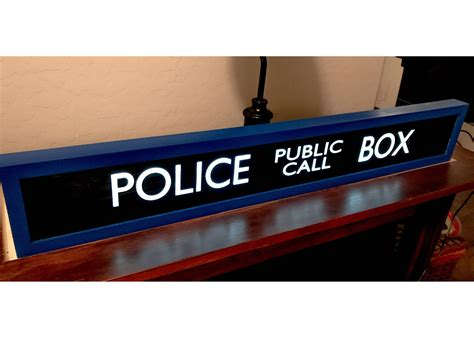The Gallery For --> Tardis Police Public Call Box Sign