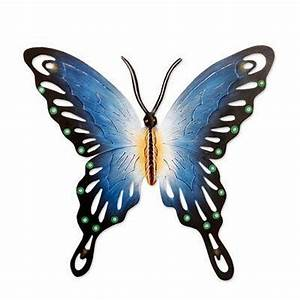 Unique Blue Butterfly Steel Wall Sculpture Mexico - Soul ...