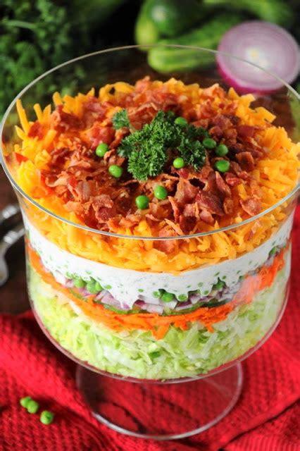 simple layered salad recipes tip junkie