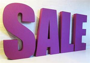 big purple sale letters 1000high 100mmthick polystyrene With big letters for sale