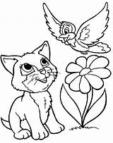 Coloring Animal Pages Cartoon Animals Printable Colouring Nice sketch template