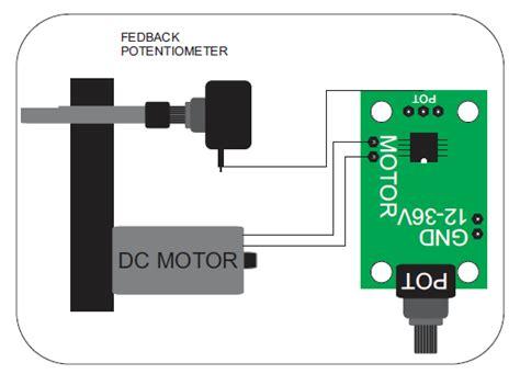 dc servo motor driver analog closed loop control