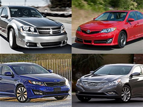 12 Midsize Cars For 2012  Car Wars Fusion Vs The Field