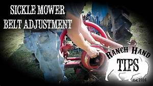 Sickle Mower Belt Adjustment - Ranch Hand Tips