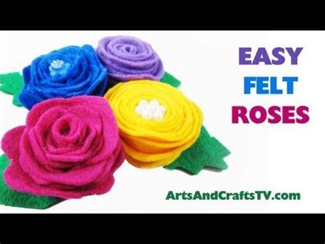 felt roses  flowers  spiral patterns
