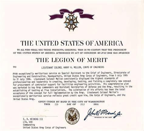recipients   legion  merit