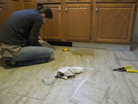 how to put tile floor in kitchen tips for installing a kitchen vinyl tile floor merrypad 9817