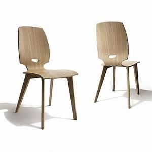 Chaise de salle a manger design en bois finn mobilier for Meuble salle À manger avec chaise grise bois