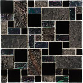 Elida Tile Home Depot by Elida Ceramica Onyx Slate Cubes Mosaic Porcelain And Glass
