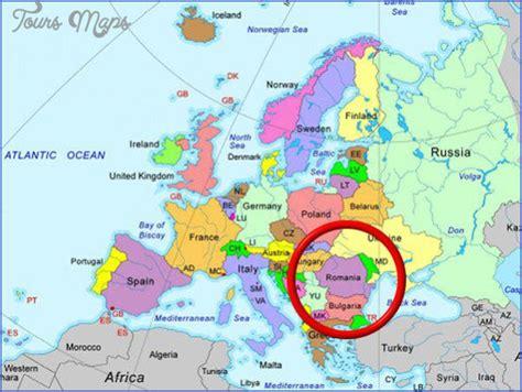romania map english toursmapscom