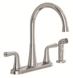 touch free faucets kitchen american standard 9089501 002 angeline two handle kitchen