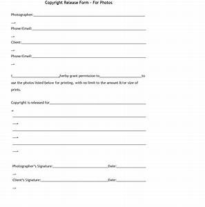 photographers copyright form template sample With photographer copyright release form template