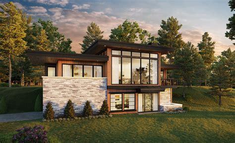 Loves Point Modern House Plan by Mark Stewart Home Design