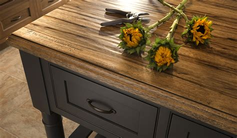 wood tops for kitchen islands rustic wood countertops reclaimed and distressed