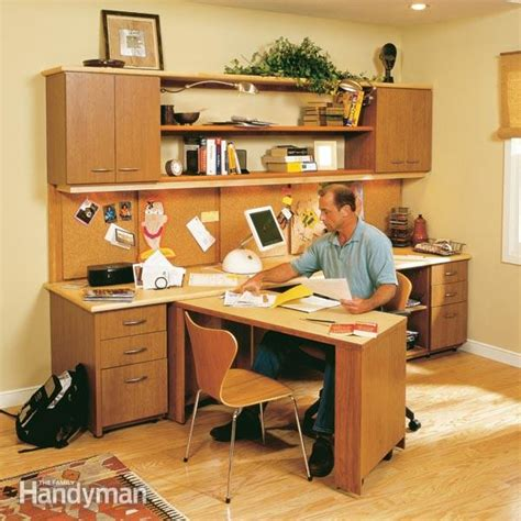 office desk corner insert how to build a home office the family handyman