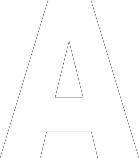 Letter A Template by Free Printable Alphabet Template