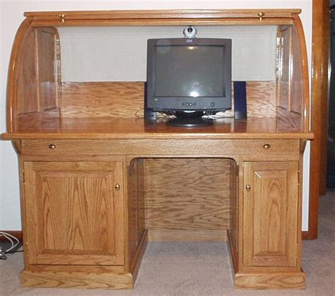 woodware roll top computer desk