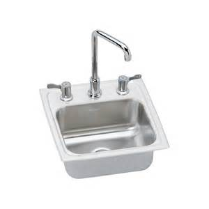 shop elkay gourmet brilliant satin 3 stainless steel drop in residential bar sink at lowes