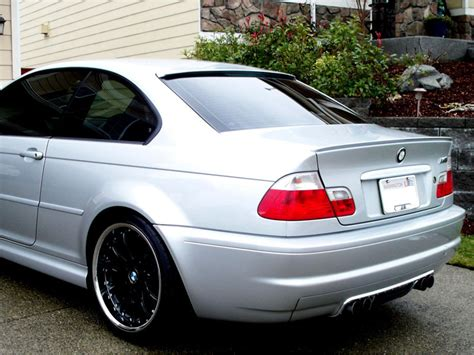 @ Painted Bmw E46 Boot Lip Spoiler Saloon Coupe M3 Titan