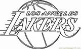 Lakers Coloring Angeles Los Nba Template Coloringpages101 Pdf Sketch sketch template