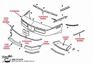 1988 Corvette Front Bumper Parts
