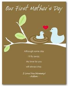 Printable First Mothers Day Card Template