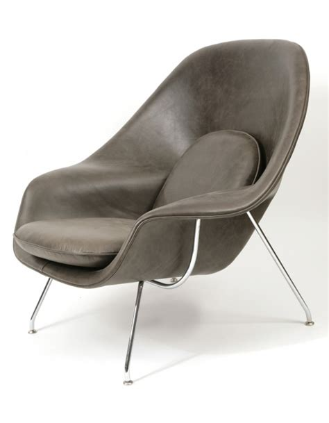 eero saarinen for knoll leather womb chair and ottoman