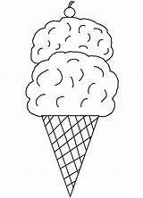 Cone Ice Cream Coloring Printable Template Desenhos Clip Colorir Icecream Sorvete Desenho Sorvetes Infantis Colouring Drawing Clipart Templates Sheets Infantil sketch template